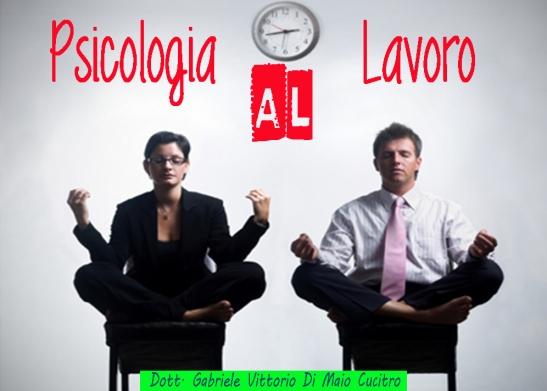psicologia del lavoro burnout